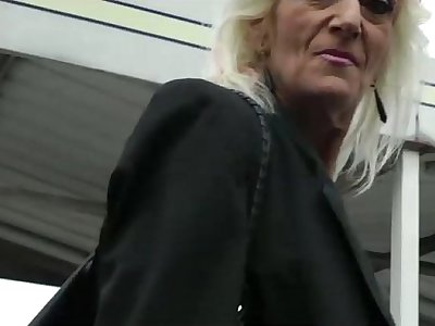 Mature blonde 55 years fucked by Bob Deker